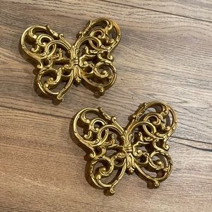 VTG Pair of Burwood Butterfly Wall Decor
